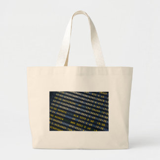Panel of arrivals of the airport tote bag