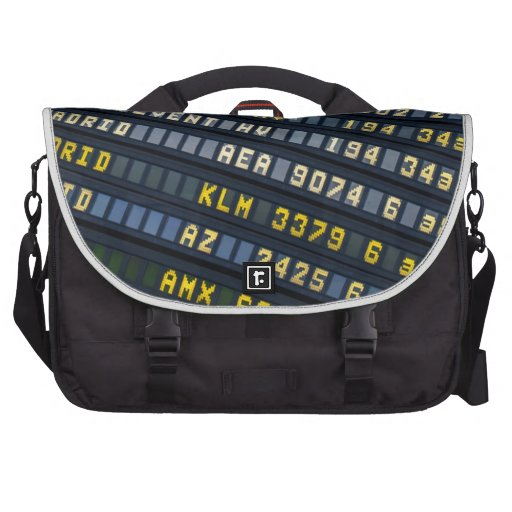 Panel of arrivals of the airport laptop computer bag