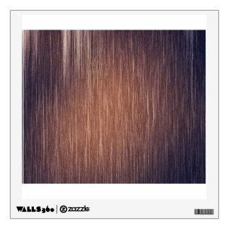 Panel Of Dark Brown Wood Wall Decal