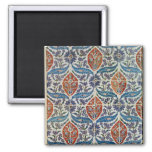 Panel of Isnik earthenware tiles 2 Inch Square Magnet