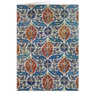 Panel of Isnik earthenware tiles Card
