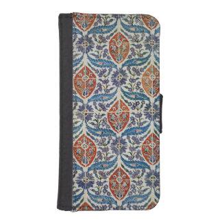 Panel of Isnik earthenware tiles Wallet Phone Case For iPhone SE/5/5s