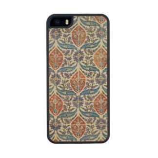 Panel of Isnik earthenware tiles Wood Phone Case For iPhone SE/5/5s