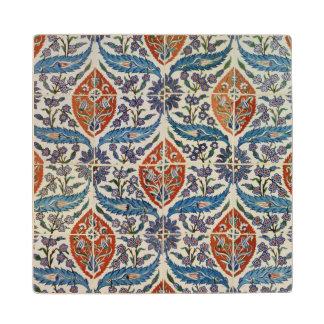 Panel of Isnik earthenware tiles Wooden Coaster