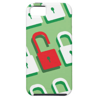 Panel of locks with one lock unlocked Security iPhone SE/5/5s Case