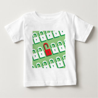 Panel of locks with one lock unlocked Security T Shirt