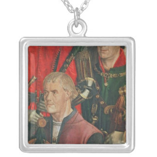 Panel of the Knights Silver Plated Necklace