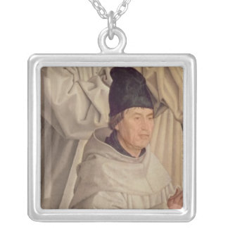 Panel of the Monks Silver Plated Necklace