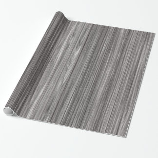 Panel of Weathered Grey Wood Texture Wrapping Paper