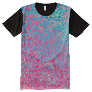 Panel T-Shirt Colorful Corroded Background