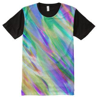 Panel T-Shirt Colorful digital art splashing