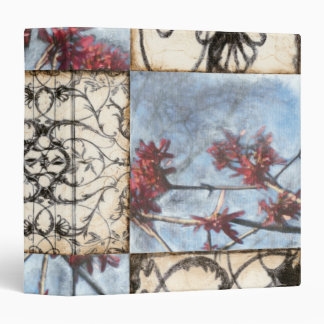 Paneled Abstract Scrollwork Painting Binder