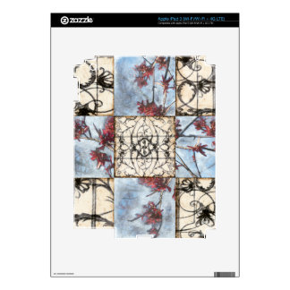 Paneled Abstract Scrollwork Painting iPad 3 Decal