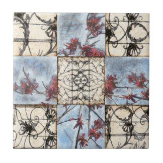 Paneled Abstract Scrollwork Painting Tile