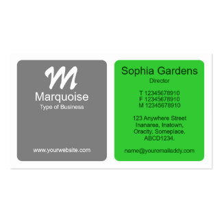 Panels - Gray with Spring Green Business Card