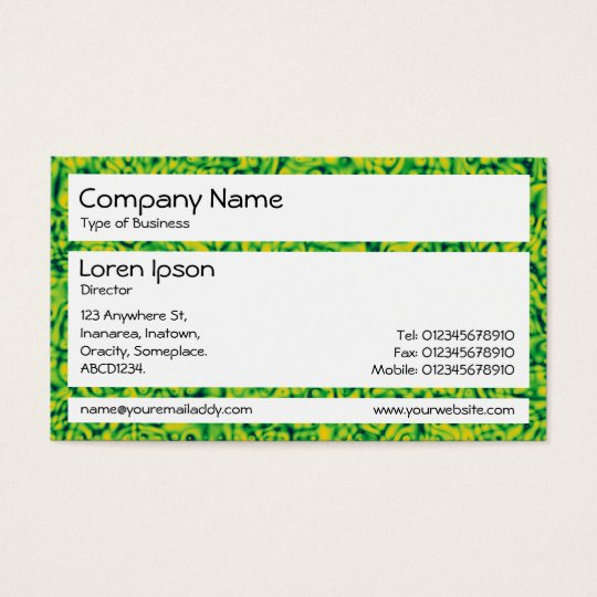 Panels - Green Impressionism Business Card
