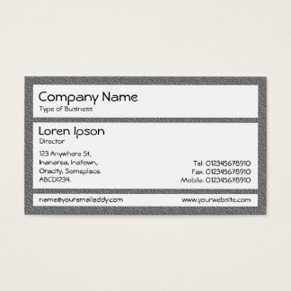 Panels - Mid Gray Plastic Chair Business Card