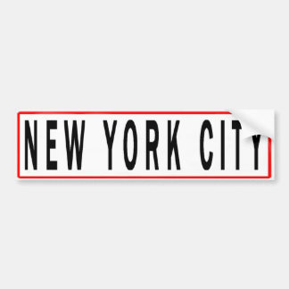PANELS NEW YORK CITY CAR BUMPER STICKER