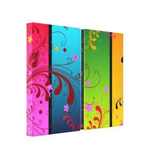 PanelsFl floral abstracto Lona Estirada Galerias