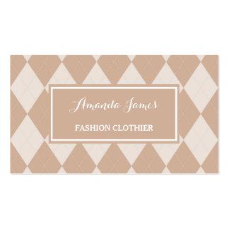 Panero marrón claro de muy buen gusto de la moda tarjetas de visita
