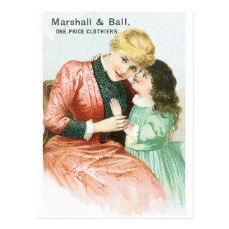Paneros del precio de Marshall y de la bola una Postal