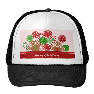 Panes de jengibre rojos lindos del navidad gorras