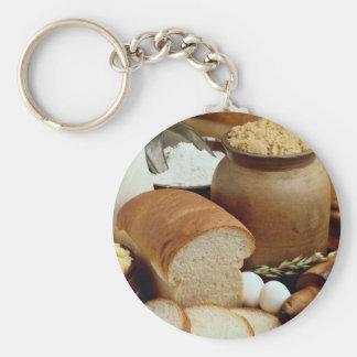 panes del Hogar-estilo con los ingredientes Llavero Personalizado