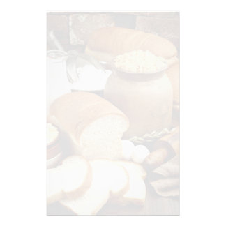 panes del Hogar-estilo con los ingredientes Papelería