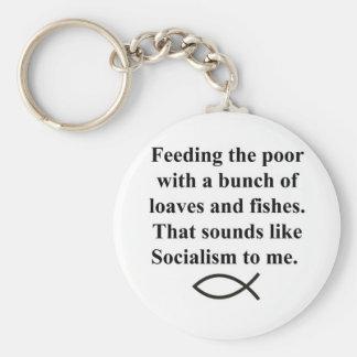 Panes del socialismo llavero redondo tipo pin