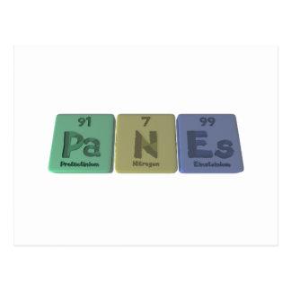 Panes-Pa-N-Es-Protactinium-Nitrogen-Einsteinium.pn Postcard