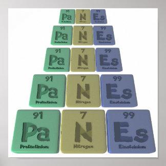 Panes-Pa-N-Es-Protactinium-Nitrogen-Einsteinium.pn Poster