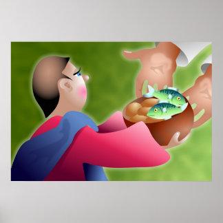 Panes y pescados posters