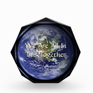 Panet Earth All In This Together Desktop Sculpture Acrylic Award