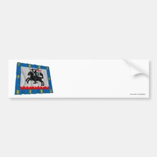 Panevezys County Waving Flag Bumper Sticker
