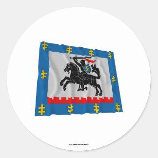Panevezys County Waving Flag Classic Round Sticker