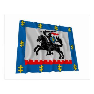 Panevezys County Waving Flag Postcard