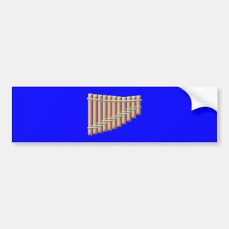 Panflute Pan flute floods Bumper Sticker