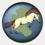 Pangaea Logo RoundSticker Sticker