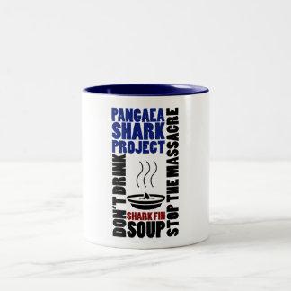Pangaea para el cuenco para sopa de la aleta de la taza dos tonos