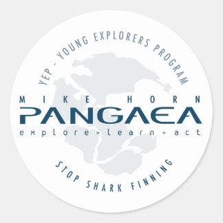 Pangaea para el pegatina del logotipo de los