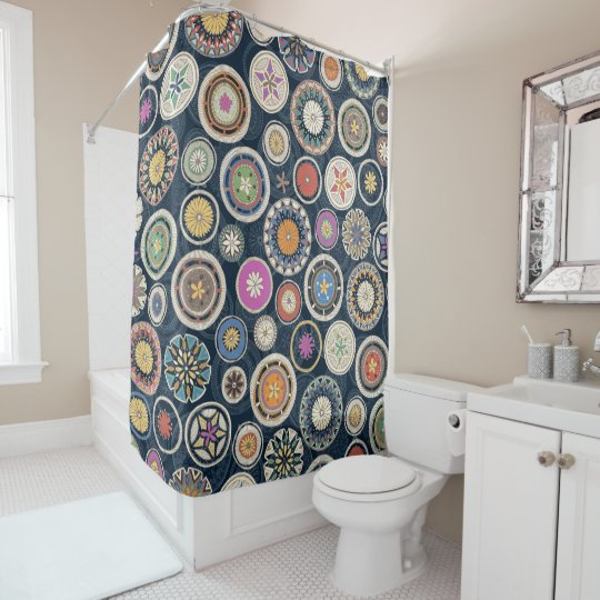 Pango Mandala Echo Shower Curtain