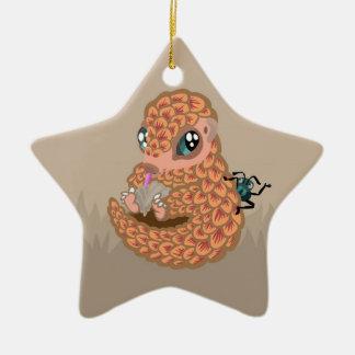 Pangolin del bebé con la hormiga ornamento de navidad