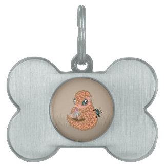 Pangolin del bebé con la hormiga placas mascota