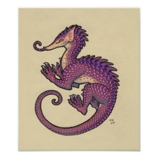 Pangolin dragon Poster print print