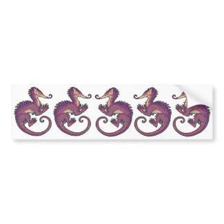 Pangolin dragon sticker sheet bumpersticker