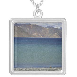 Pangong Lake, Ladakh, India Silver Plated Necklace