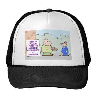 panhandler murder commit trucker hat
