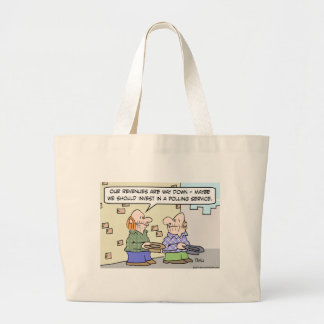 panhandlers polling service revenues tote bags
