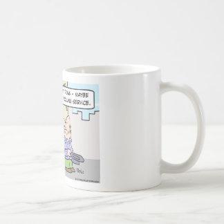 panhandlers polling service revenues coffee mug