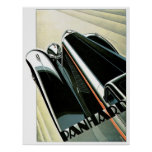 Panhard Automobile Vintage Ad Art Poster